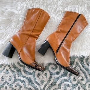 Bakers Clint Snake Embossed Leather Boots SZ 9M